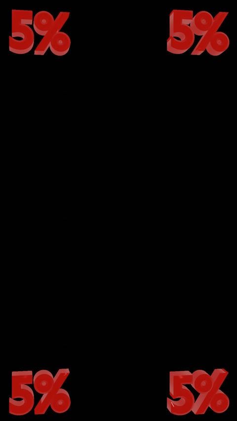 5% Integer Vertical Spinners W/Alpha Channel