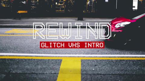 Rewind Glitch VHS Intro Premiere Proテンプレート
