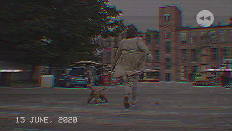Rewind Glitch VHS Intro Premiere Pro Template