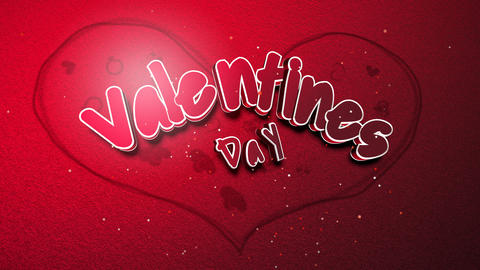 Animated closeup Valentine Day text and motion romantic... Stock Video Footage