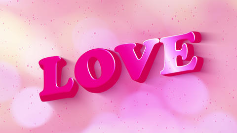 Happy Valentine day social media text banner. Love animated motion graphic text glow shadow from Animation