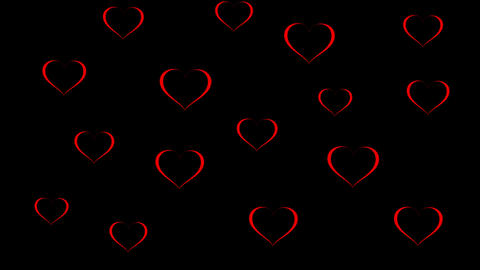 Background for likes. Hearts. Valentine's Day After Effects Template