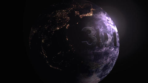 3D Planet Earth Plantilla de Apple Motion