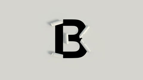 Paper Cut Roll text character B Animation