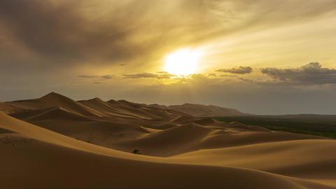 Beatiful landscape in desert at sunset timelapse Live Action