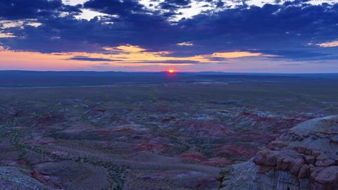 Canyons Tsagaan suvarga at sunrise in Mongolia Live Action