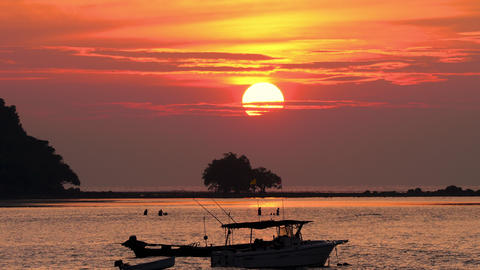 Sunset landscape at Phuket GIF