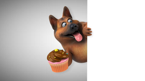 Fun german shepherd dog - 3D Animation Animation