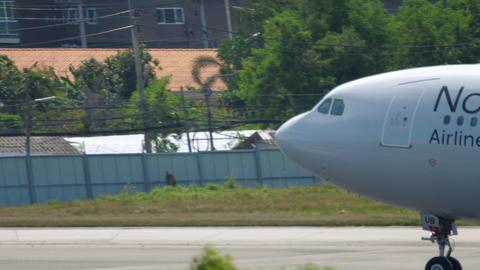 NordWind Airbus A330 landing GIF