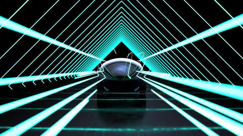 3D Futuristic car motion design Animation
