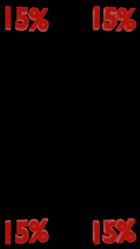 5% Integer Vertical Spinners W/Alpha Channel 0