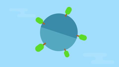 [alt video] Eco world animation graphic