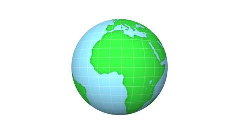 Loop earth animation.Cartoon animation of world rotating 애니메이션
