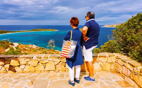 Couple at Tavolara Island in Capo Coda Covallo reflex Photo