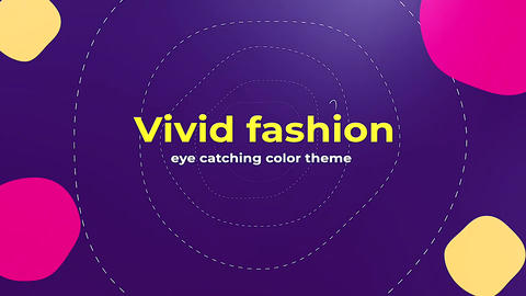 Vivid Fashion Apple Motion Template