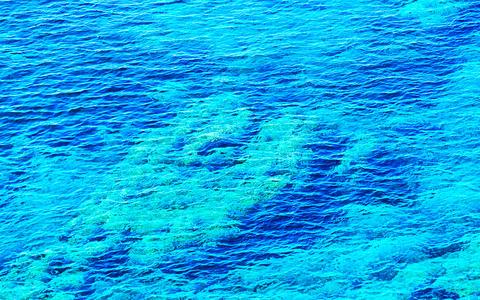 Beautiful Mediterranian Sea reflex Photo