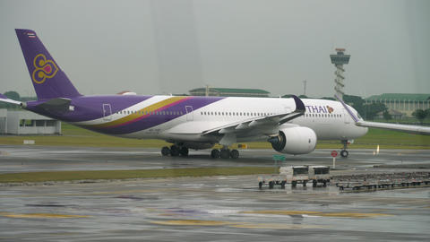 Airliner taxiing before departure GIF