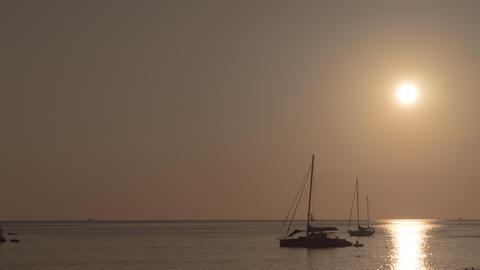 Sunset landscape at Phuket Live Action