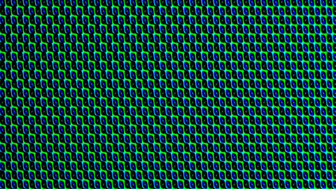 magic texture in green and blue, small patterns stretching horizontal and Animation
