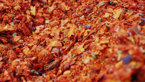 aromatic spices mix at bright light extreme close view Live Action