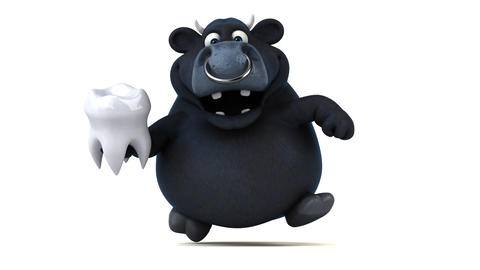 Fun black bull - 3D Animation Animation