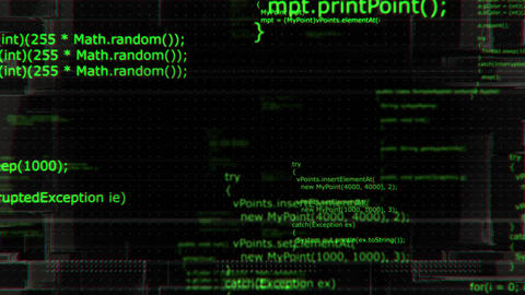Software developer programming code, looping 4K background Animation