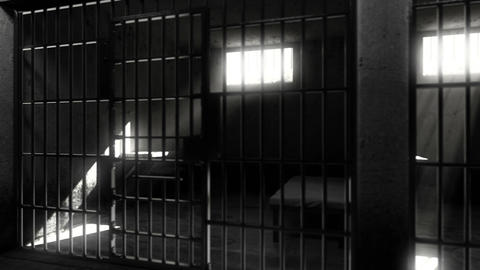Prison cells. Looped animation Archivo