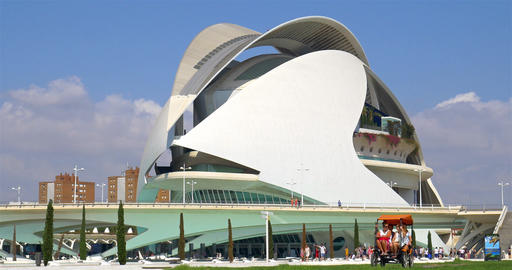 Reina (Queen) Sofia Palace of Arts of City of Arts and Sciences Footage