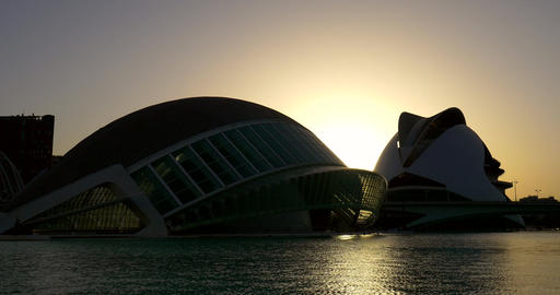 Hemispheric and Reina (Queen) Sofia Palace of Arts of City of Arts and Sciences Live Action