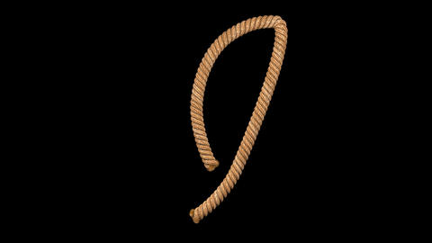 3d animated rope text typeface with separate alpha channel I Animation