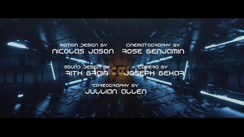 Scifi Credits Plantilla de Apple Motion