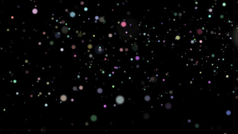 Fast chaotic movement of multicolored round balls on a black background HD Live Action