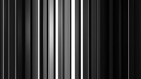 White and black vertical bars seamless loop 3D render animation Animation