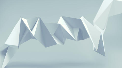 Polygonal white shape seamless loop 3D render animation Animation