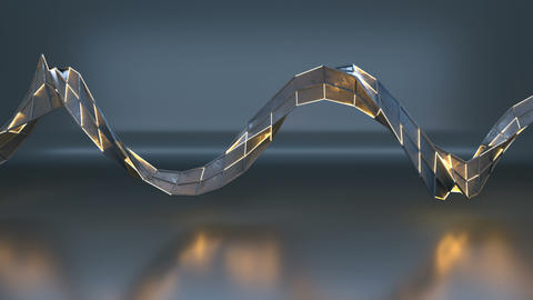Futuristic technology mesh seamless loop 3D render animation Animation