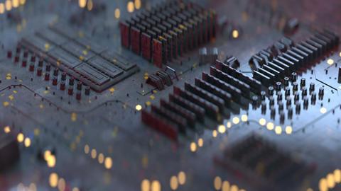 Metallic techno plate seamless loop 3D render animation Animation