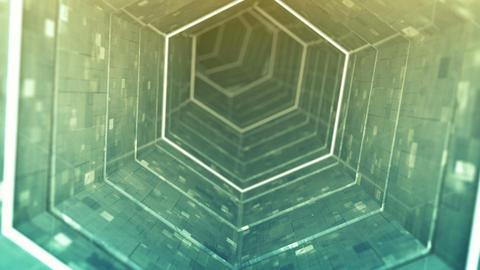 Modern corridor 3D render seamless loop animation Animation