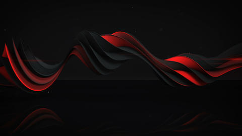 Red and black twisted spiral shape spinning seamless loop 3D render animation Animation