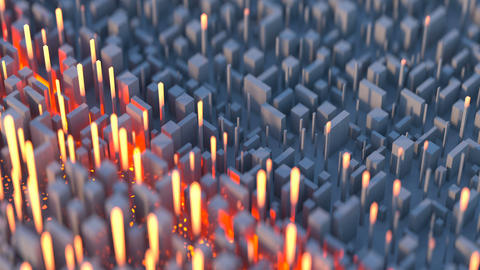 Data scan in cyberspace seamless loop 3D render animation Animation