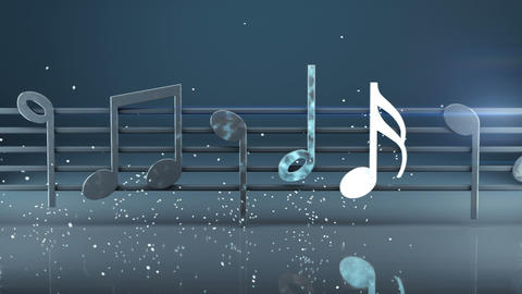 Fictional sheet music 3D render seamless loop animation Animation