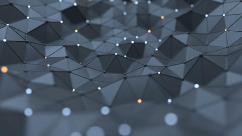 Futuristic network shape abstract loopable background 3D render Animation