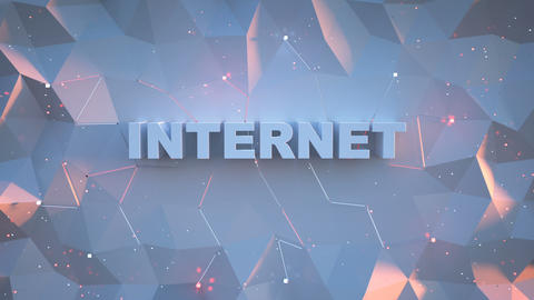 Inscription internet is landing 3D render animation Animation