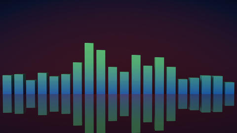 Music equalizer bars 3D render seamless loop animation Animation