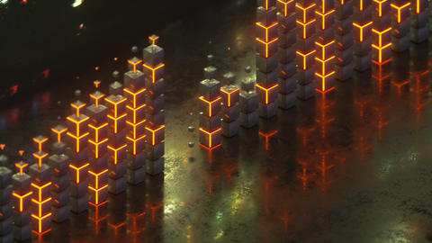 Equalizer or spectrum analyzer seamless loop 3D render animation Animation
