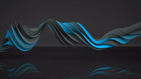 Blue and gray twisted spiral shape spinning seamless loop... Stock Video Footage