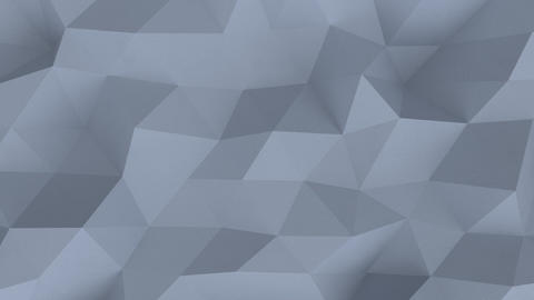 Low poly gray surface with plaster texture seamless loop 3D render animation Animation