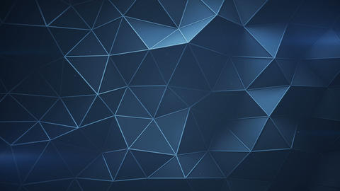 Futuristic construction with lines and low poly shape seamless loop 3D animation Animation