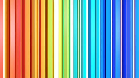 Vivid colorful vertical lines seamless loop 3D render animation Animation