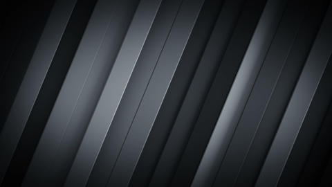 Dark gray background with diagonal stripes seamless loop 3D render animation Animation
