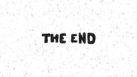 The end text grunge graphic seamless loop animation Animation
